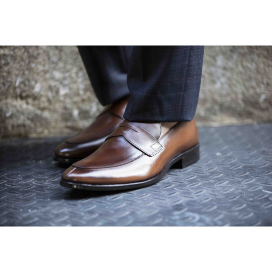 Sapato Social Loafer Matteo Whisky
