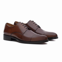 DERBY CAP-TOE BOYD WHISKY