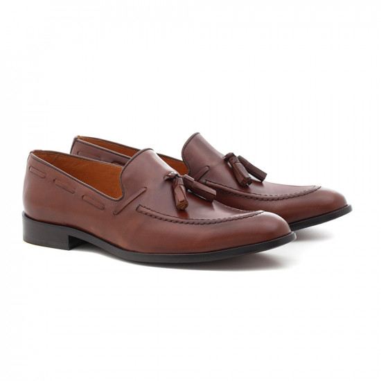 Sapato Masculino Loafer Gal Whisky