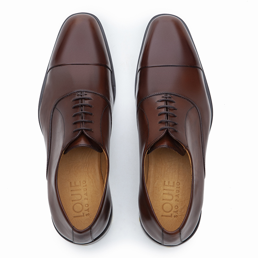 SAPATO SOCIAL OXFORD CAP-TOE LAWN WHISKY